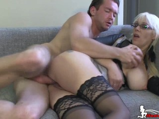 Norwegian pornstar Monica Milf suck 'n get fucked by young stud Jens Jensen