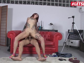 LETSDOEIT – Hot Spanish Redhead Pornstar Fucks A Fan And Swallows His Load