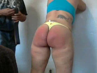 thick redbone spanked hard