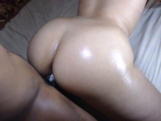 Thick redbone takes it hard doggy style!