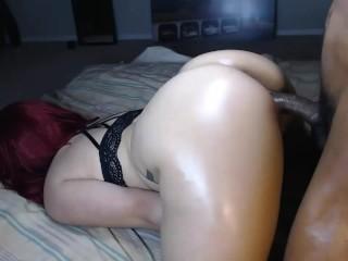 Sexy ass redbone throw's it back on hard cock & make's him cum hard!