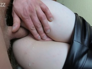 Two cum in her beautiful ass – amateur anal creampie