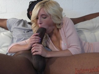 smallest chick takes 12 inch biggest black cock!