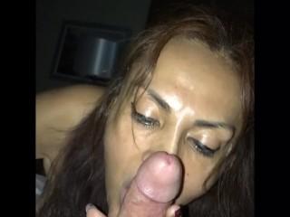 Latina Milf Blowjob Huge Tits