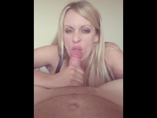 Stormy Daniels homemade POV Blowjob