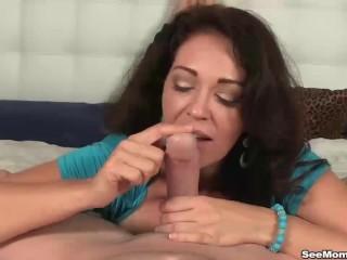 Busty milf blowjob