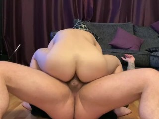 Petite Chinese girl rides white dick – hard fast anal fuck